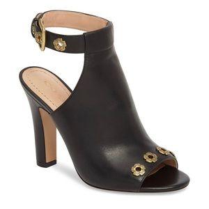 COACH Eddison Black Heels Mules Ankle Strap Sandle
